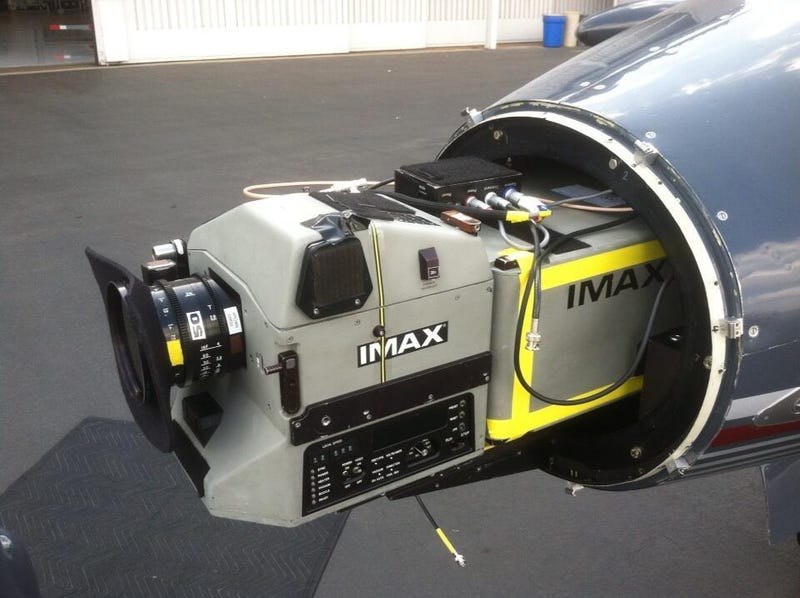Nolan mounted a camera to the nose of a Lear jet for Interstellar