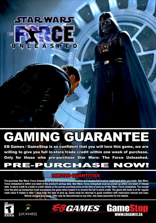 EB Canada Offers Hazy Force Unleashed Buyback Guarantee