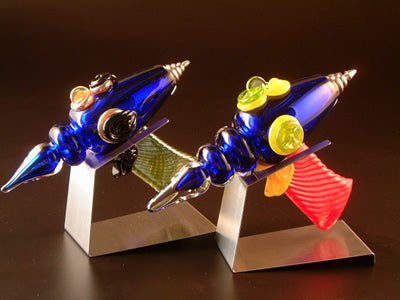 A space age arsenal made of glass