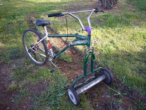 Bike/Lawnmower Hybrids Make Lawn Upkeep More… Fun?