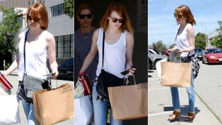 Why Is Emma Stone Carrying a Bag with Andrew Garfield's Name On It?