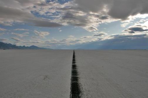 Morning Breaks Over The Salt Flats