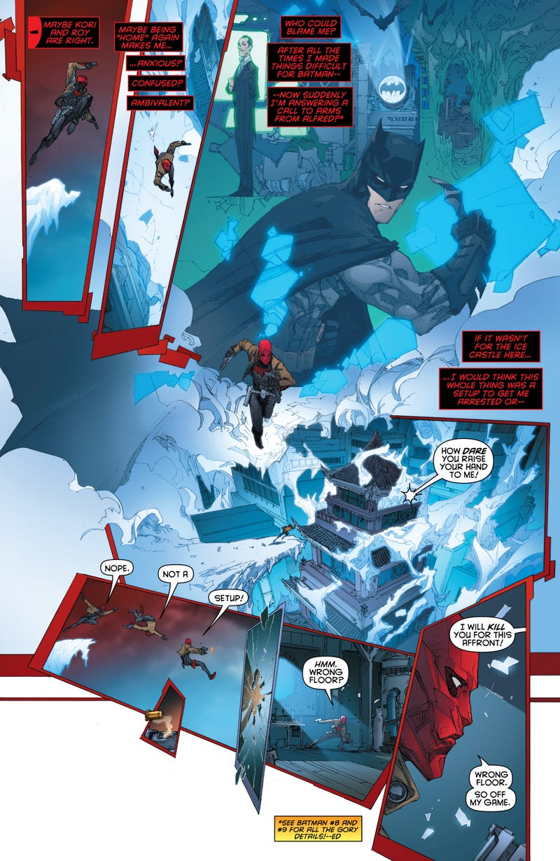 It's Jason Todd versus Mr. Freeze, in this preview of Red Hood and the Outlaws