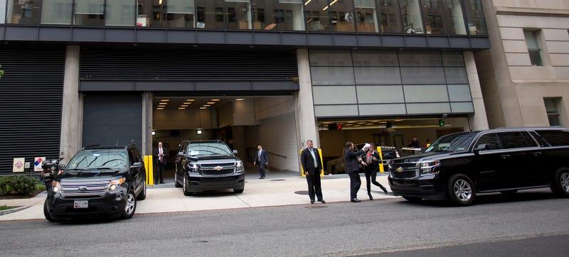 Trump Motorcade Gets Into Not-At-All Symbolic Car Crash