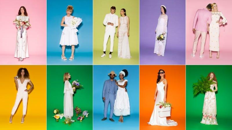 'Slash DJ' and Other Occupations of Vogue Wedding Dress Models
