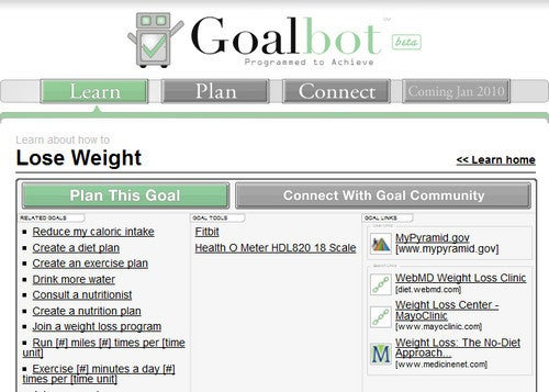 Goalbot Helps You Track and Plan Step-by-Step Goals