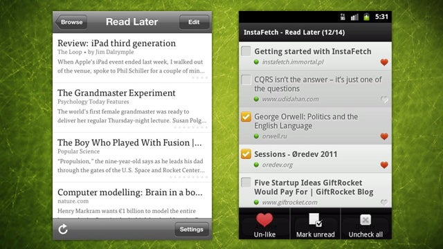 Instapaper and Instafetch Available on iOS and Android for Over 30% Off