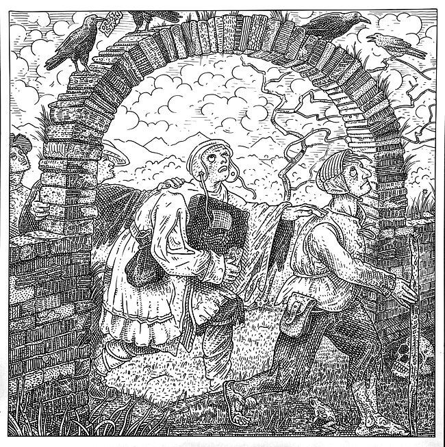 Find the skull hidden in each of these illusory illustrations