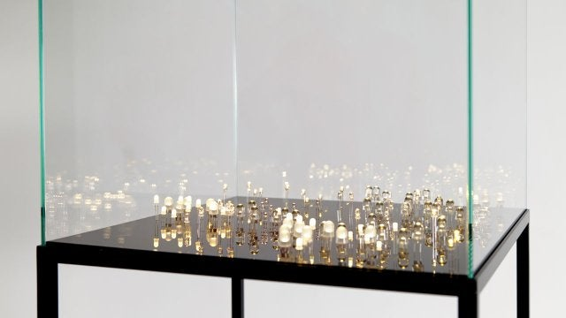 Hundreds of Naked LEDs Make This Lamp Look Like a Starry Night Sky