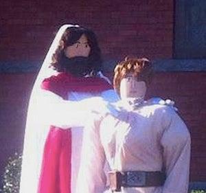 Church lawn display sees Luke Skywalker accepting Jesus, rejecting Darth Vader
