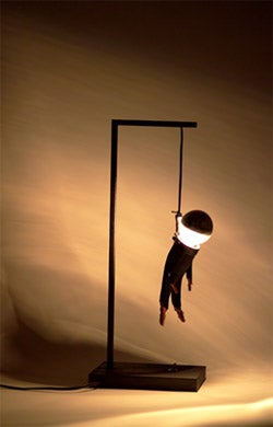 Hanging Man Lamp Will Knot Brighten Your Day