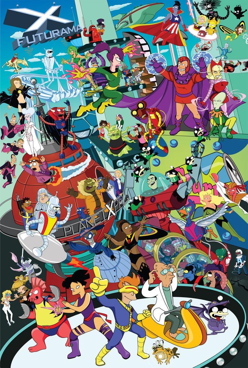 Days Of Futurama Past: The Futurama characters redrawn as X-Men!