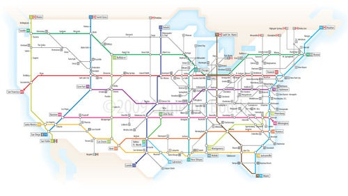 What America's Highways Would Look Like As A London Underground Map