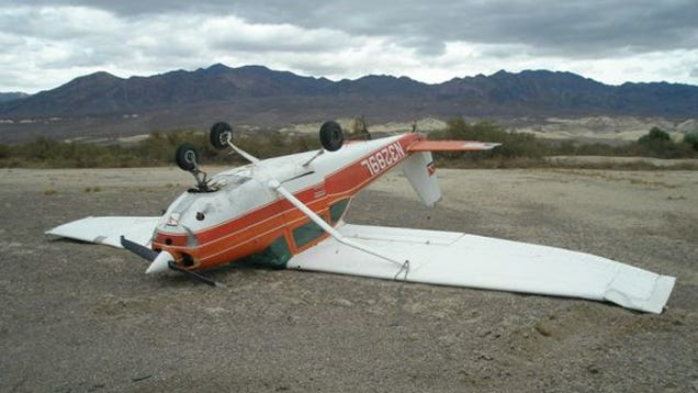 This Heavily Damaged Upside Down Airplane Is For Sale And