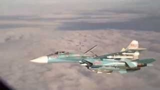 Su-27 Intercept (video fixed)