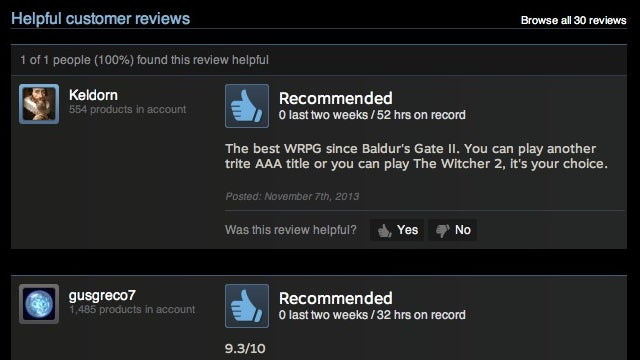 Steam Adds User Reviews to Its Digital Video Game Store