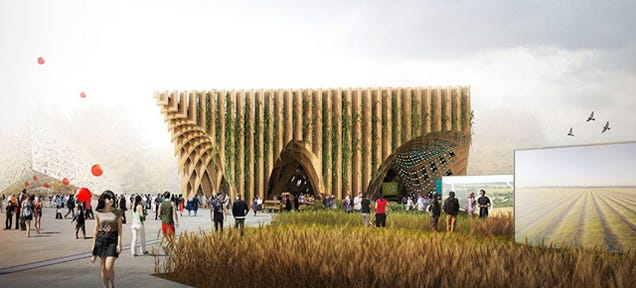 The Food Growing on This Building Will Be Served at a Restaurant Inside