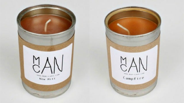 Man Cans Aren't Your Mom's Aromatherapy Bath Candles