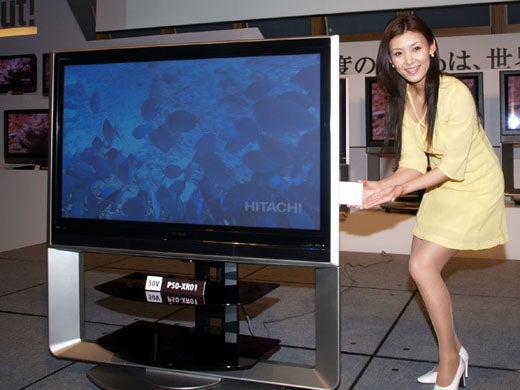 Hitachi's 160GB iVDR Plasma TVs Make Bubb Rubb Do His Thing