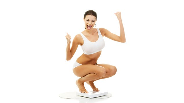 The Inanity of Women on Scales in Stock Photos