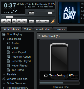 Winamp for Android Syncs Your Music Library Over Wi-Fi
