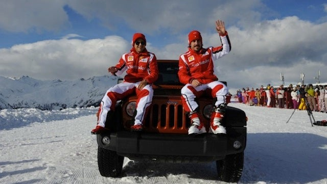 Ferrari's F1 Drivers Work As Jeep Hood Ornaments