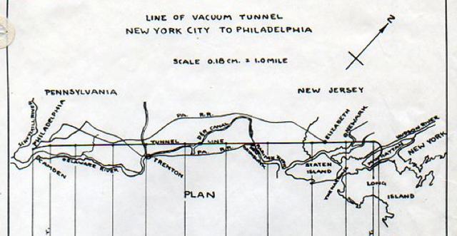 In an alternate universe, there's a 600-mph underground missile train between NYC and Philly