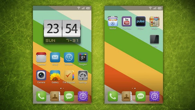The iAndroid Home Screen