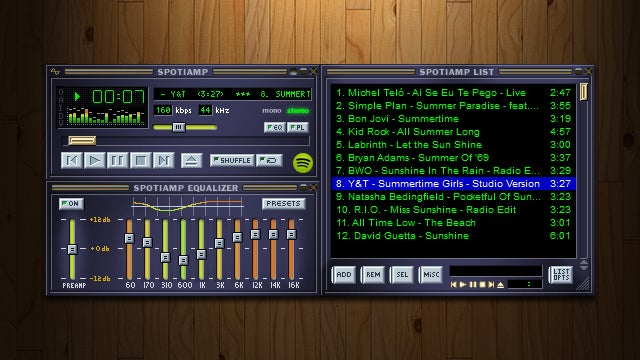Spotiamp is a Spotify Player to Serve Your Winamp Nostalgia