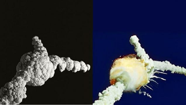 Famous Explosions Recreated Using Cauliflower