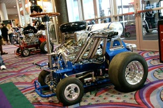 Hossfly V8 Barstools, Drinking and Driving Required
