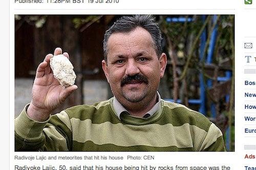 Bosnian Man Blames Grudge-Holding Aliens for Six Meteorite Strikes