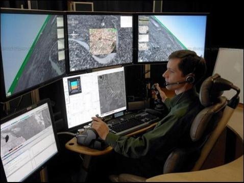 High Tech Cockpit Controls Unmanned Aircraft