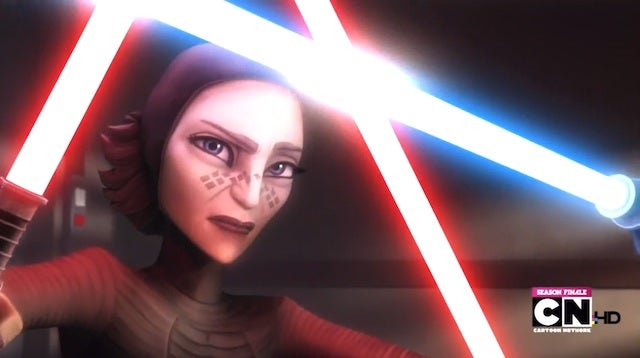 On the Clone Wars season finale, Ahsoka breaks Anakin's heart and may push him toward the Dark Side