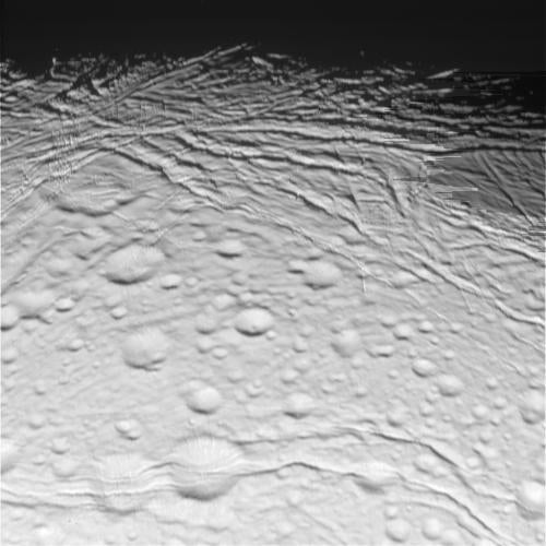 Cassini Reveals Enceladus' North Pole in Glorious Detail