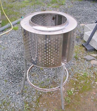 Repurpose an Old Washing Machine as a Backyard Fire Pit