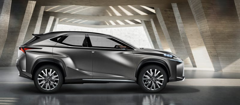 World Premiere of the Lexus LF-NX Crossover Concept at the 2013 Frankfurt Motor Show