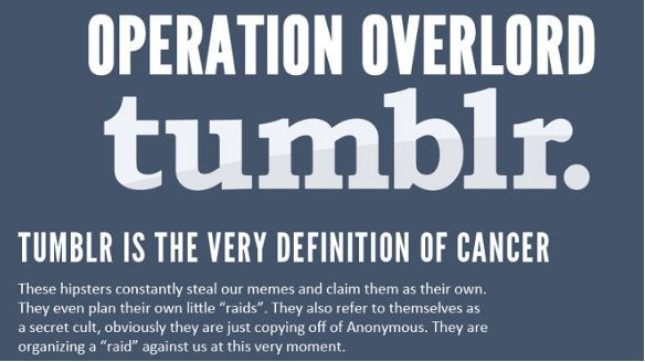 4chan Wages War on Tumblr: Whoever Wins, We All Lose (Updated)