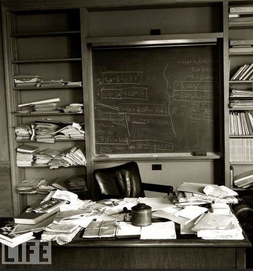 Never Before Seen Pictures Of Albert Einstein's Desk, On The Day He Died