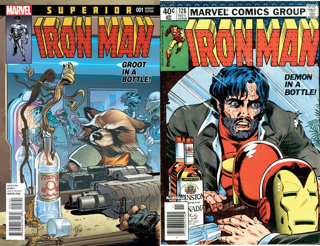Rocket And Groot Replace Other Marvel Heroes On Classic Comic Covers