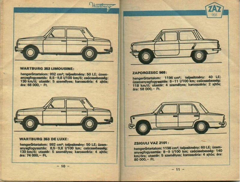 These Were Your Car Options In Hungary During The Soviet Era
