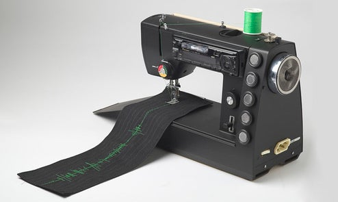 Sound Sewing Machine Concept Shows You the Music