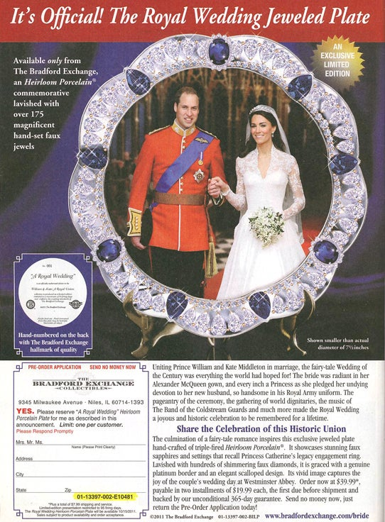 Creepy New Commemorative Crap Spawned By The Royal Wedding