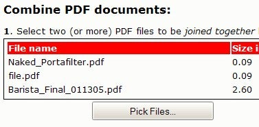 MergePDF Combines PDF Documents for Free