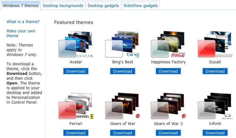 Microsoft Releases More Free Windows 7 Theme Downloads