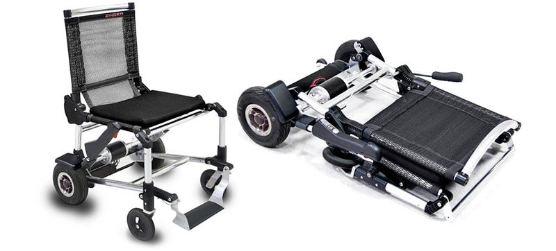 This Ultralight Electric Wheelchair Folds Up Like a Lawn Chair