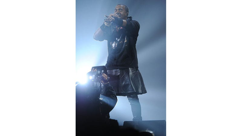 Kanye Doesn't Want You to See This Photo of Him in a Kilt, So He Had It Scrubbed From Getty Images