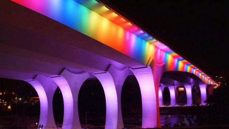Minneapolis Bridge Lit Up Like Rainbow After Marriage Equality Passes