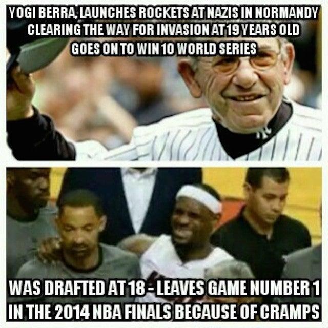 Toughness Meme Goes Off The Rails With LeBron-Yogi Berra Comparison