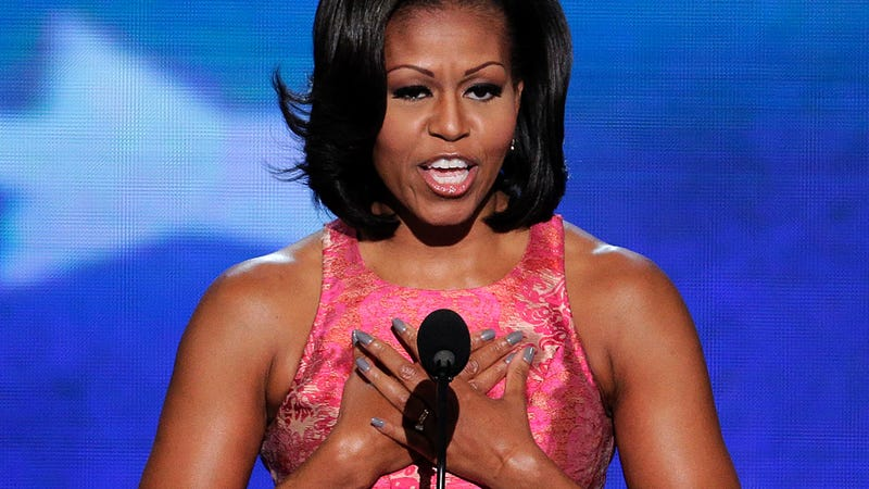 Women Show Their Support by Wearing FLOTUS-Blue Nail Polish